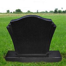 Absolute Black Granite Monument Head Tomb Grave Marker Cemetery Stone MN-18