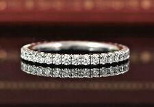 $5050 Cartier Etincelle 18K White Gold Diamond Eternity Wedding Band 48 Ring 4.5