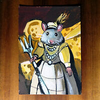 Original painting ACEO hand painted OOAK signed classic art ネズミ mouse