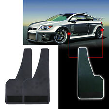 2pcs Car Power Flow Mud Flaps Front Rear Wheel Black Plaid Plastic Splash Guards
