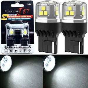 LED 15W 7441 White 5000K Two Bulbs Light Front Turn Signal Replacement Upgrade