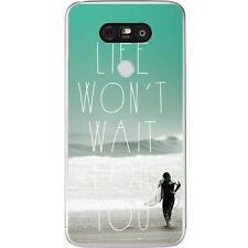 Coque Housse Etui LG G5 à motif Silicone Gel qualité FR - Surf Citation