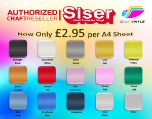 A4 sheets-Siser Sparkle  HTV Vinyl - smooth glitter finish