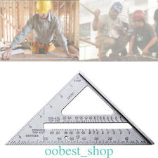 "1x7"" Aluminum ruler Mini Silver Aluminum Alloy Speed Tri Square Roofing Triangle"