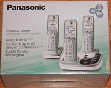 PANASONIC KX-TGD223 N CHAMPAGNE GOLD DIGITAL CORDLESS ANSWERING SYSTEM DECT 6.0