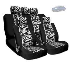 NEW PREMIUM GRADE BLACK MESH ANIMAL ZEBRA TIGER PRINT CAR SEAT COVERS FOR NISSAN