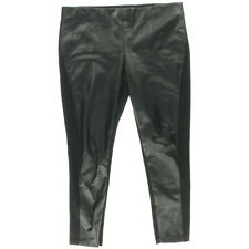 NEW Women Lauren Ralph Lauren Black Super Stretch Faux Leather Skinny Pant AU 14