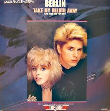 BERLIN take my breath away GIROGIO MORODER radar radio BO TOP GUN MAXI 1986 EX++