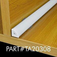 """TECLED 46"""" 4Ft. Aluminum Profile for LED Strip/Tape Light Corner Mount Anodized"""