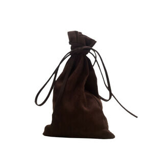 1Pair Medieval Money Pouch Drawstring Coin Wallet Purse Pagan SCA Reenactment