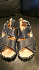 Used Finn Comfort Blue Leather Sandals ~ Size 40 D 9