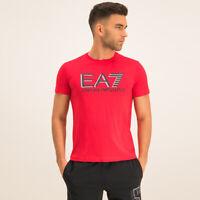 EA7 Emporio Armani Crew Neck Logo T-Shirt - Racing Red