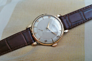 Vintage 1952 large Omega 'bumper' automatic men's watch, 18K solid gold, 344
