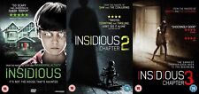 INSIDIOUS TRILOGY COMPLETE 1-3 COLLECTION DVD Patrick Wilson UK Release New R2