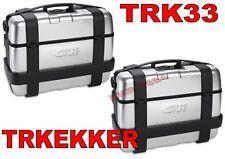 KIT GIVI TREKKER TRK33 + TRK33 ALLUMINIO  COPPIA VALIGIE TREKKER 33 TRK33 ALLU