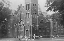 Bourbon Indiana Presbyterian Church Real Photo Antique Postcard K13704