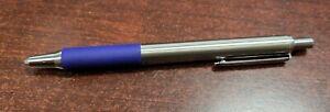 1 Zebra G-402 Stainless Steel Retractable Gel Pen Fine 0.5mm Blue Ink G402