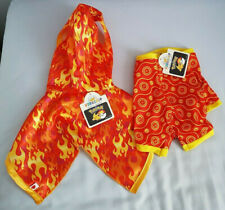 BUILD A BEAR ONLINE EXCLUSIVE FLAREON SLEEPSUIT AND FIRE TYPE CAPE BNWT'S