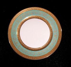 Stunning Antique Rosenthal Selb Plossberg Gold Encrusted Aida Salad Plate