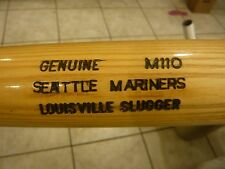 Seattle Mariners MLB Louisville Slugger M110 Wood Baseball Bat Used, late 1980's