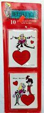 Beetlejuice Vintage stickers Valentines RARE 1990 Geffen New Old Stock