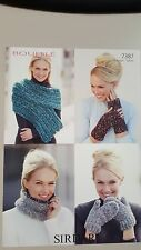 Sirdar Knitting Pattern #7387 Wrap Snood Wrist Warmers & Mittens to Knit Bouffle