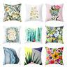 FJ- UK_ FM- Letters Plant Throw Pillow Case Sofa Bed Chair Cushion Cover Home De