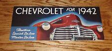 1942 Chevrolet Full Line Sales Brochure 42 Chevy Fleetline De Luxe