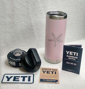 Yeti Rambler 18oz Bottle with Chug Cap Pink with Starfish & KAA Monograms