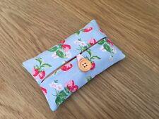Handmade Packet Tissue Holder Made Using Cath Kidston Mini Strawberry Fabric