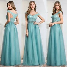 Ever-Pretty Off Shoulder Long Bridesmaid Dress Formal Celebrity Evening Gown US