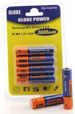 4x batería rechargeable battery ni-mh 1,2v AAA micro 3600mah recargable