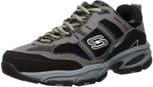 Skechers Sport Men's Vigor 2.0 Trait Memory Foam Sneaker, Charcoal/Black, 9 Wide