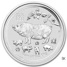 2019 Lunar Pig 1 oz BU Silver Coin