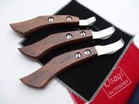 30Days Warranty_3 Sizes_Wood Handle Horse Grooming Eye loop hoof knife/Knives