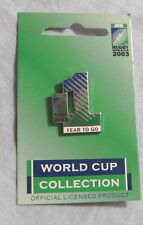 #D327. 2003 RUGBY UNION WORLD CUP COUNTDOWN  PIN / BADGE - ONE YEAR TO GO