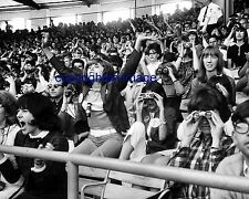 Fans waiting for The Beatles Concert Comiskey Park August 1965  B+W 8x10 D