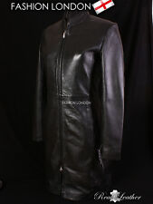 'OBSESSION' Ladies Black Fitted Slim Stylish Long Sexy Real Soft Leather Jacket