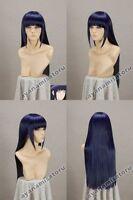 Narutos Shippuden Hinata Hyuga Blue&Black Mixed Cosplay Wig 80cm