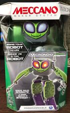 NEW Meccano Micronoid Green SWITCH Programmable Robot Kid Toy