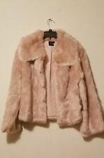 Cliche Women's Faux Fur Jacket Blush Sz M