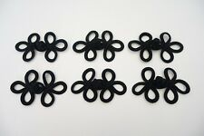 6 Sets of Black Chinese Frog Closure