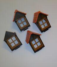 Playmobil 4x Dachgaube mit Dach und Fenster aus Ritterburg Fachwerkhaus 3666