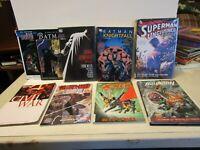 Lot of 9 DC Marvel Superhero Paperback and Hardback Books