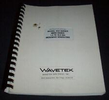Wavetek 950 Microwave Signal Generator Manual Shelf G