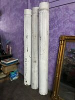 "3 Vintage Antique Victorian Architecture Wood Porch Columns 86"" Tall & 9"" Wide"