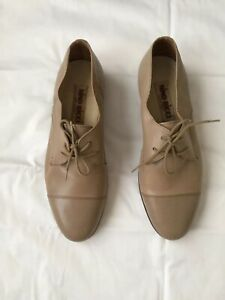 NINO RICCI Made in Italy All Leather Taupe Menswear Oxford Shoes Sz 40.5 (US 9.5