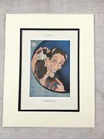 1938 Japanese Print Hokusai Laughing Warai Hannya Hyaku monogatari