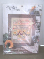Needles N' Hoops  counted cross stitch kit two old crows #1674 9 x 11