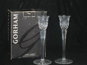 "GORHAM LADY ANNE CANDLESTICK PAIR, 8"""